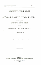Annual Report of the Board of Education: Volumes 1-70