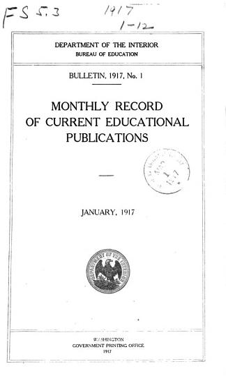 Bulletin   Bureau of Education PDF