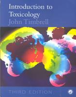 Introduction to Toxicology  Third Edition PDF