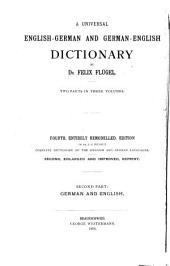 Allgemeines Englisch-Deutsches und Deutsch-Englisches Wörterbuch: Deutsch-englisch