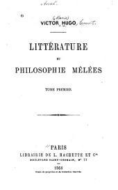 Littérature et philosophie mêlées: Volume1
