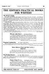 The Editor: The Journal of Information for Literary Workers, Volumes 47-48