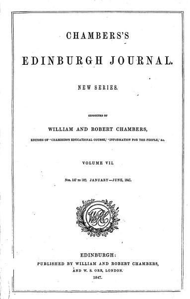 Download Chambers  Edinburgh Journal Book