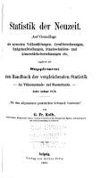 Statistik der Neuzeit PDF