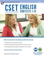CSET English Subtests I-IV Book + Online