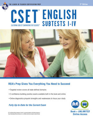 CSET English Subtests I IV Book   Online