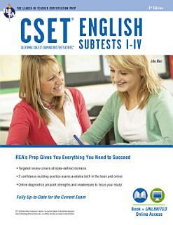 CSET English Subtests I IV Book   Online Book