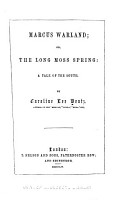 Marcus Warland  Or  The Long Moss Spring PDF
