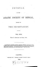 Journal of the Asiatic Society of Bengal: Volume 17, Page 1