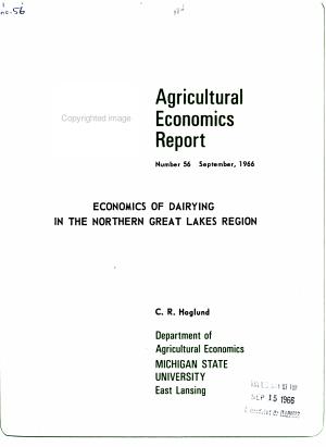 Agricultural Economics Report