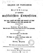 Gradus ad Parnassum  oder Anf  hrung zur regelm    igen musikalischen Composition auf eine neue Art ausgearbeitet PDF