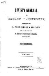 Revista general de legislación y jurisprudencia: Volumen 46