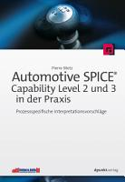 Automotive SPICE     Capability Level 2 und 3 in der Praxis PDF