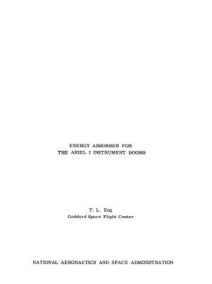 Energy Absorber for the Ariel I Instrument Booms