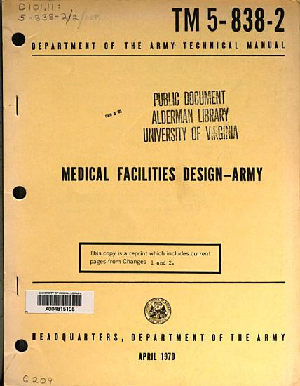 Medical Facilities Design   Army PDF