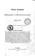 Neuer Anzeiger fur Bibliographie und Bibliothekwissenschaft PDF