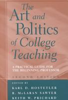 The Art and Politics of College Teaching PDF