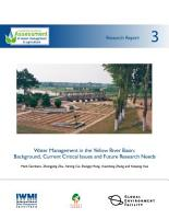 Water management in the Yellow River Basin  background  current critical issues and future research needs PDF