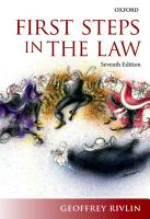 First Steps in the Law PDF