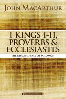 1 Kings 1 to 11  Proverbs  and Ecclesiastes PDF