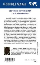 Géopolitique identitaire en RDC: Cas de l'identité Kasaïenne