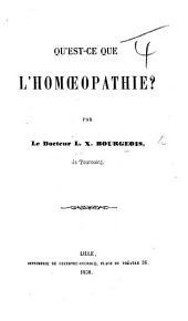 Qu'est-ce que l'homœopathie?.