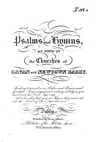 Psalms and Hymns  as sung in the churches of Cavan and Newtown Barry PDF