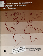 Geotechnical Engineering Practices in Canada and Europe