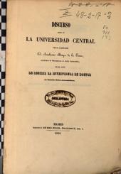 Sobre la importancia filosófica del cálculo de las probabilidades : Discurso leído en la Universidad Central