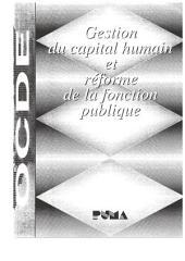 Gestion du capital humain et réforme de la fonction publique