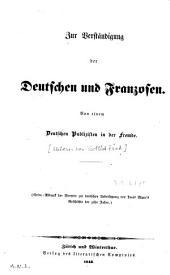 Zur Verstaendigung der Deutschen und Franzosen