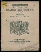 Epitaphios Ioanni Borcholdo ...