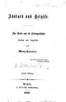 Ab  lard und Heloise  Ihre Briefe und die Leidensgeschichte   bersetzt und eingeleitet von M  Carriere  Zweite Auflage PDF