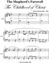 The Shepherd's Farewell Easy Piano Sheet Music