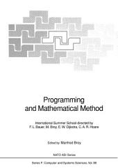 Programming and Mathematical Method: International Summer School