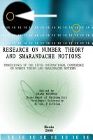 Proceedings of the Fifth International Conference on Number Theory and Smarandache Notions  Shangluo University  China  2009  PDF
