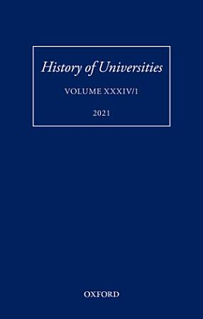 History of Universities  Volume XXXIV 1 PDF