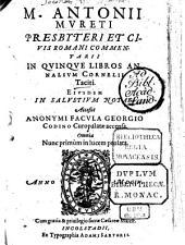 Commentarii in quinque libros Annalium Cornelii Taciti, eiusdem in Salustium notae