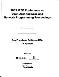 IEEE     Conference on Open Architectures and Network Programming Proceedings PDF