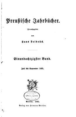 Preussische Jahrb  cher PDF