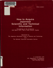 How to Acquire Japanese Scientific and Technical Information PDF