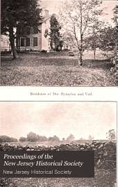 Proceedings of the New Jersey Historical Society