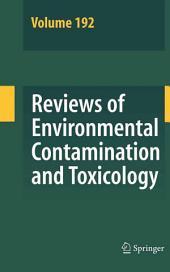 Reviews of Environmental Contamination and Toxicology 192