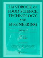 Handbook of Food Science  Technology  and Engineering PDF