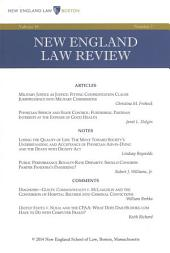 New England Law Review: Volume 48, Number 2 - Winter 2014