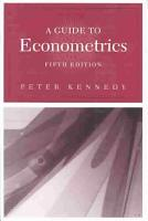 A Guide to Econometrics PDF