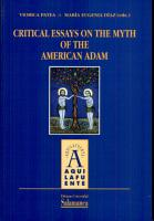 Critical essays on the mith of the american Adam PDF