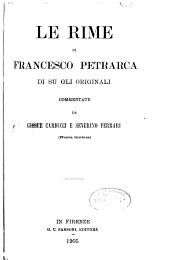 Le rime di Francesco Petrarca di su gli originali