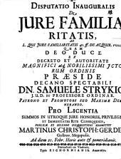 Disputatio inauguralis de iure familiaritatis