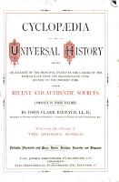 Cyclpoedia of universal History  Volume II   Part I The Modern World PDF